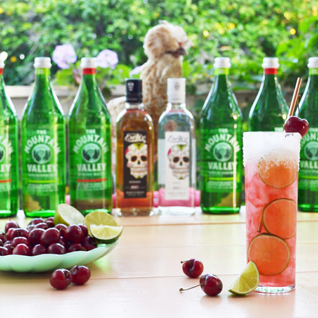 Cherry Lime Tequila Spritz By Drinking With Chickens