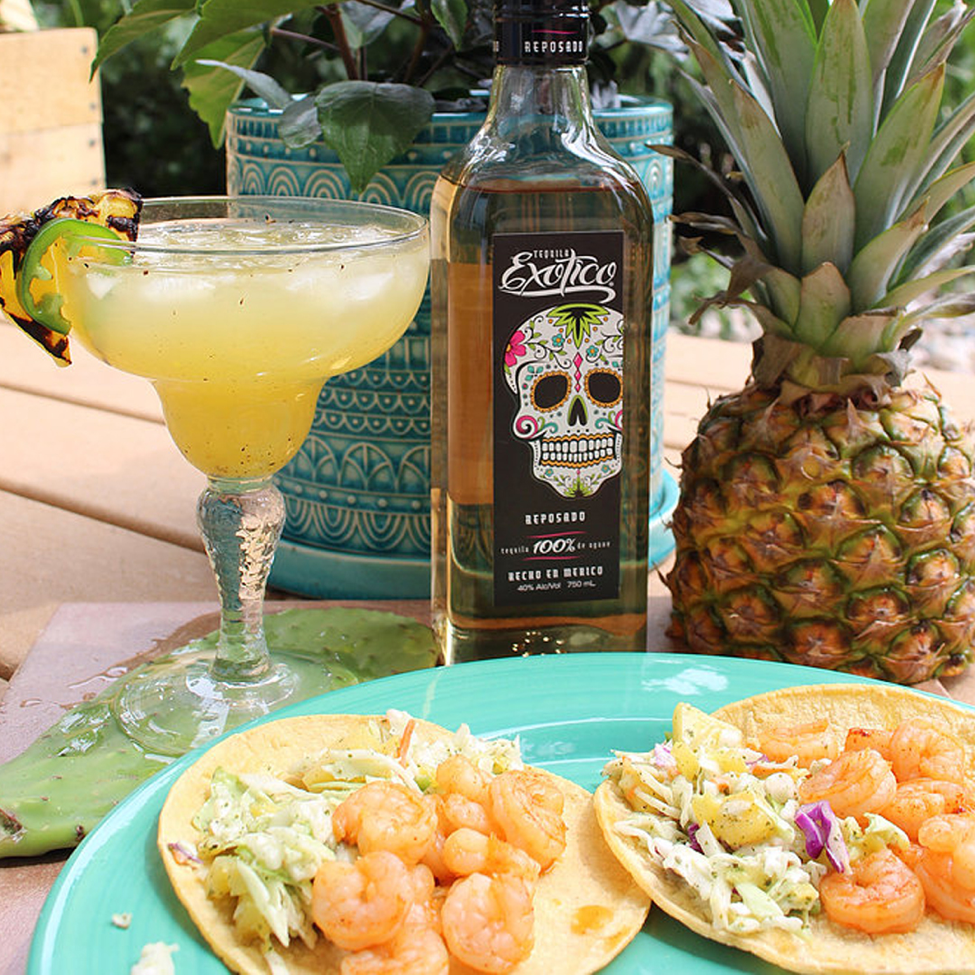 Pineapple Margarita and Shrimp Tacos By Tipsy Gypsy